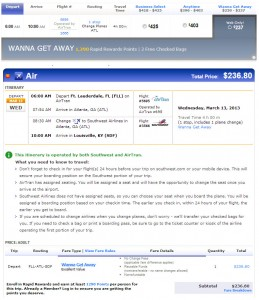 Southwest AirTran codeshare