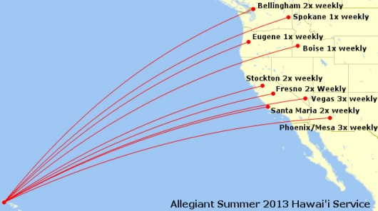 Allegiant Summer 2013 Hawai'i Service