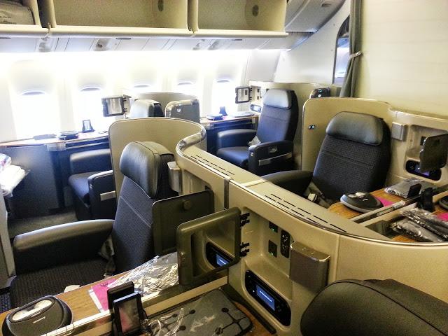First Class Cabin 777-300ER American