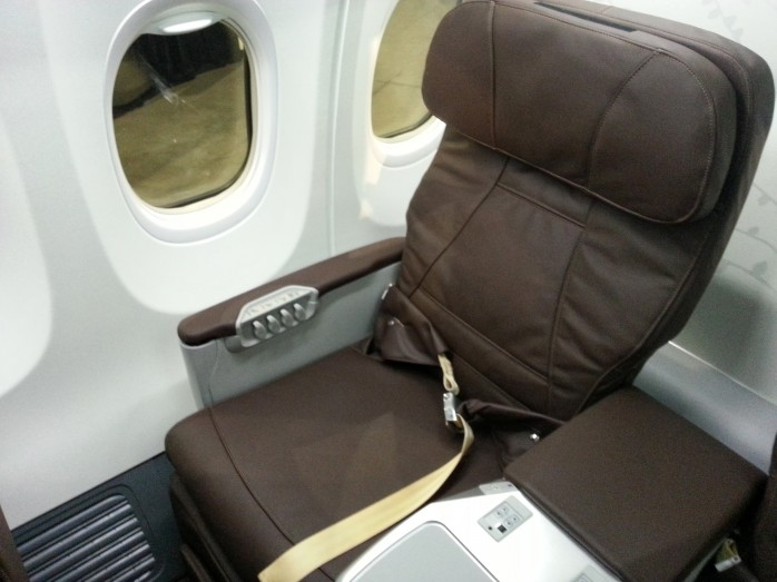 SilkAir Business Class 737