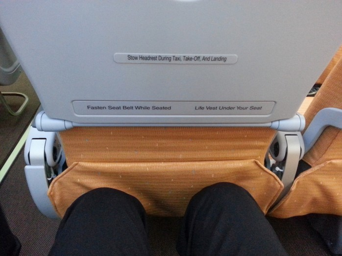 SilkAir Coach Legroom