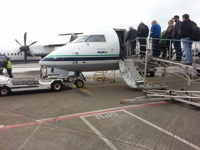 Boarding the CRJ-700