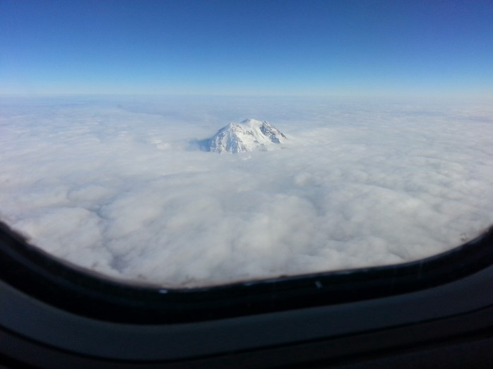 Mountain Peeking Through the Clouds