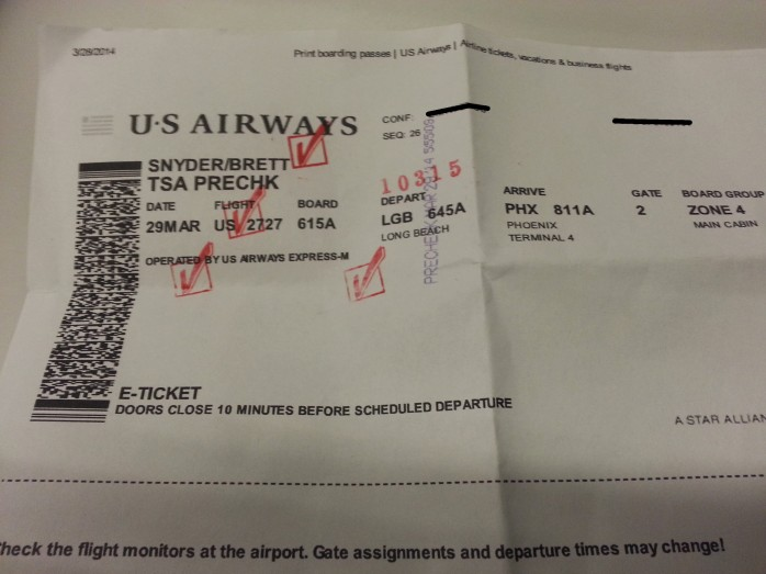 TSA PreCheck Boarding Pass