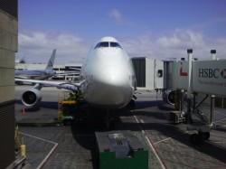 Lufthansa 747-400 at LAX