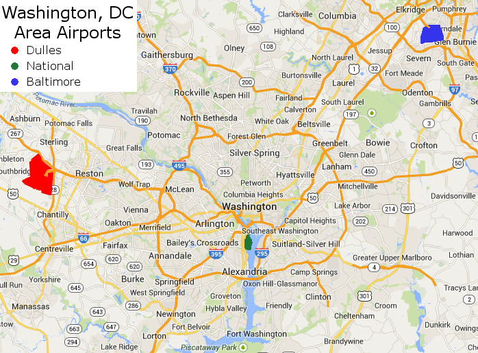 3 airports in washington dc