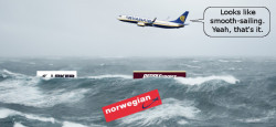 Atlantic Low Cost Carrier Stormy Seas