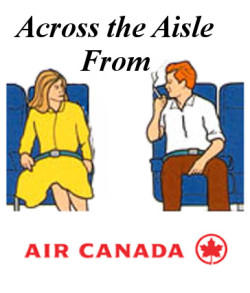 Across the Aisle Air Canada