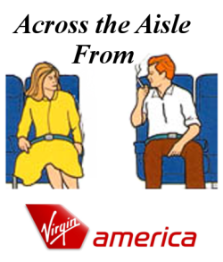 Across the Aisle Virgin America